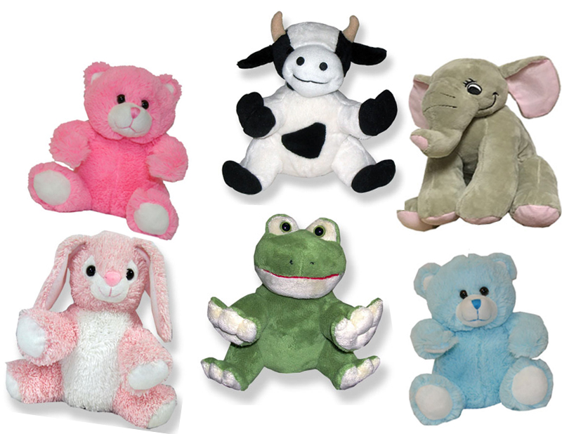 various plush animals